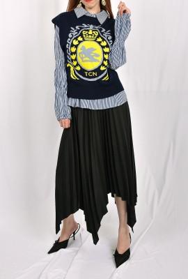 2 Piece Basic Sweater Vest Shirt