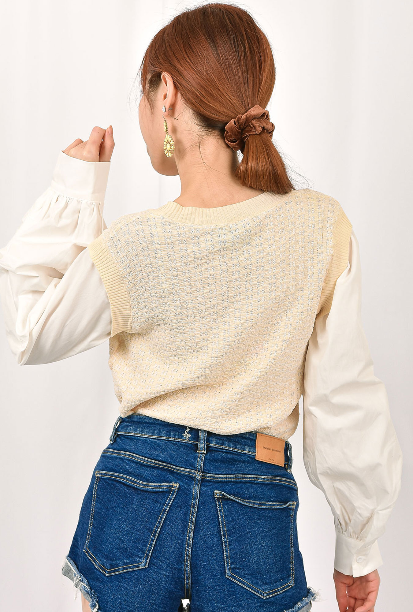 Knit Belle Sleeve Shirt Top