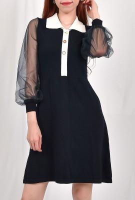A-Line Chelsea Collar Mini Dress
