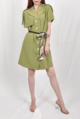 A- Line Button Down Dress
