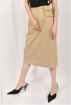 Midi Skirt with Belt bag