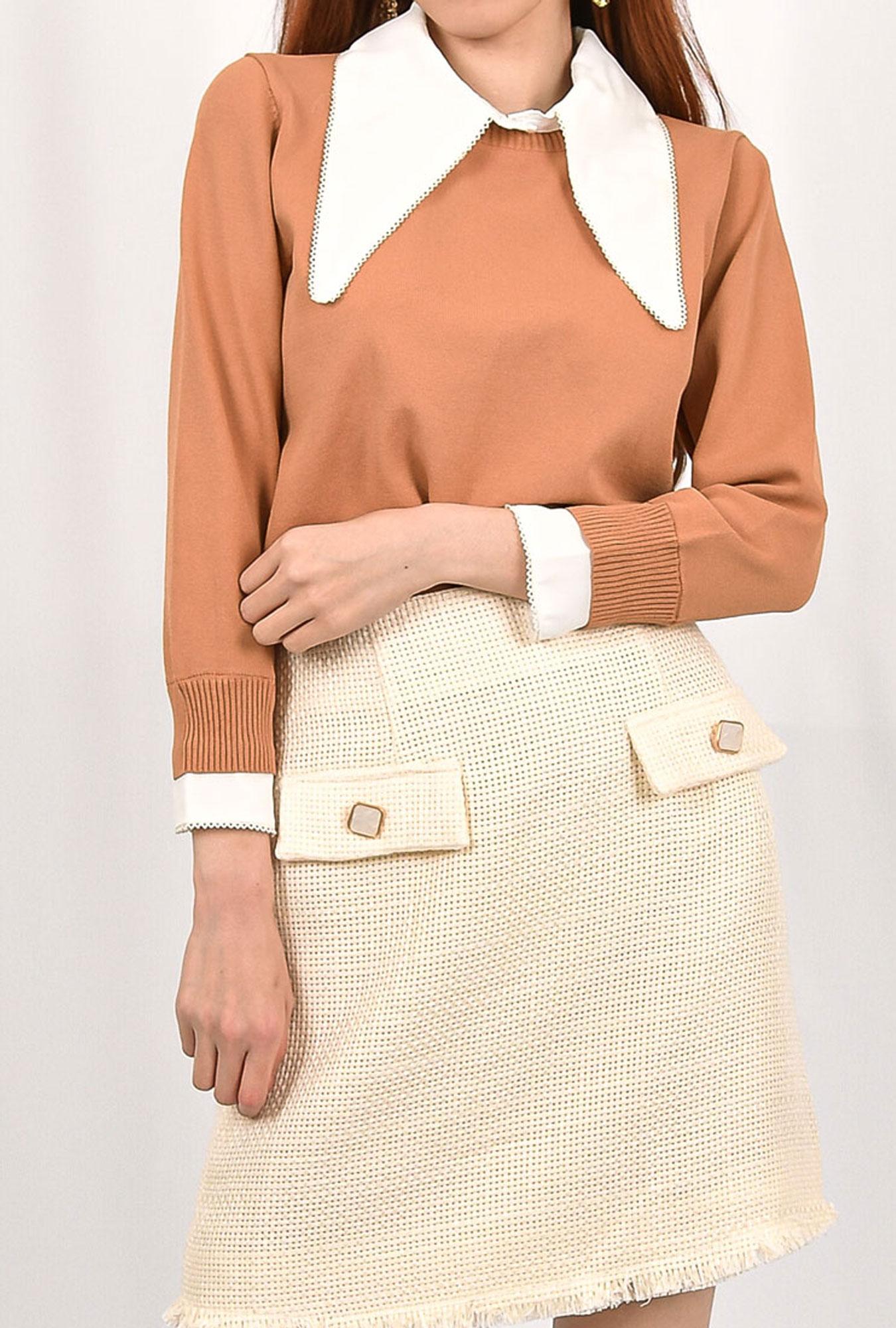 Collar Knit Top