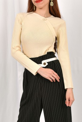 Knitted Blouse With Side Button